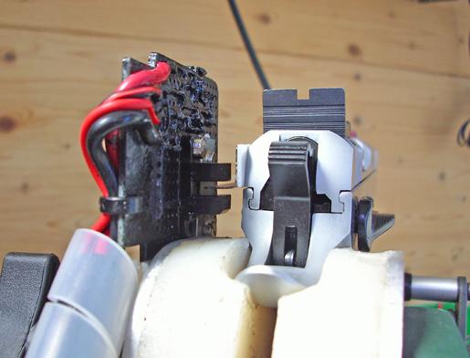 Vista posteriore sensore IR