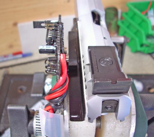 Sensore IR e carrello aperto